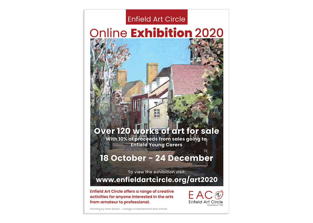 Enfield Art Circle Exhibition poster 2020